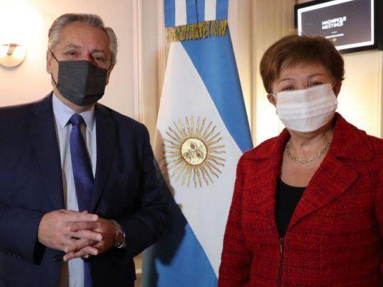 Alberto Fernández y Georgieva, en un mano a mano clave por la deuda