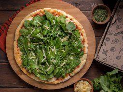 Pizza con rúcula.