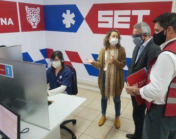 El intendente de Tigre, Julio Zamora, recorrió las instalaciones que albergarán el programa de telemedicina municipal.