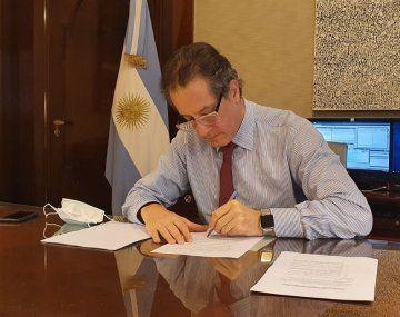 El presidente del Banco Central, Miguel Ángel Pesce.