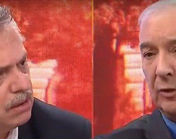 Alberto Fernández y Mauro Viale