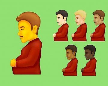 Hombre embarazado y persona embarazada, dos nuevos emojis inclusivos.