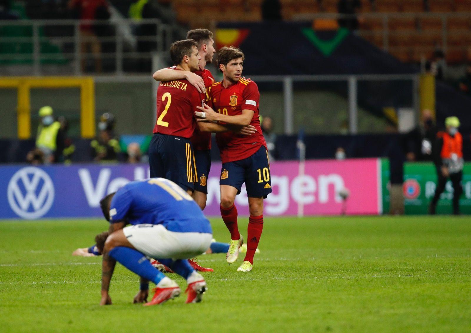 España le puso fin al largo récord mundial de Italia.