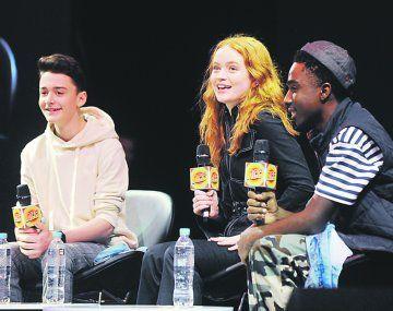 Stranger Things. Tres de sus intérpretes en la Comic Con 2018.