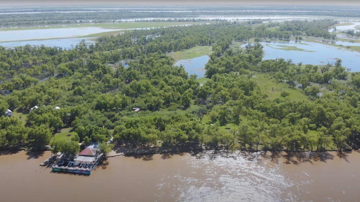 La isla del Paraná que nació tras el choque de dos barcos hace casi 80 años