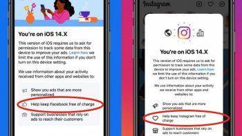 el pedido de facebook e instagram para los usuarios de apple