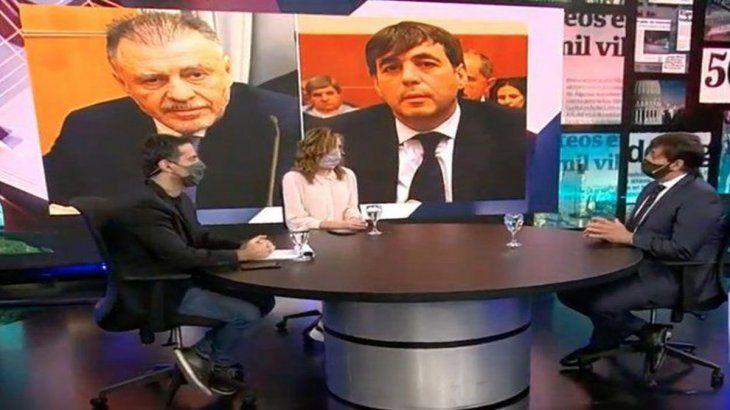 """Fabián De Sousa, durante la entrevista en el programa """"Fuego Amigo""""."""