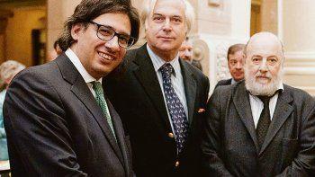 Vistas. Germán Garavano, Roberto Hornos, juez de la Cámara en lo Penal Económico y Claudio Bonadio.