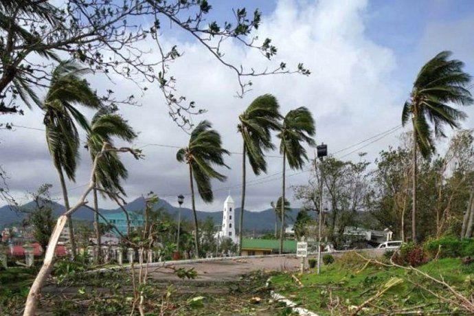 El primer tifón de la temporada