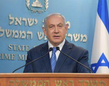 El primer ministro en funciones de Israel, Benjamín Netanyahu.