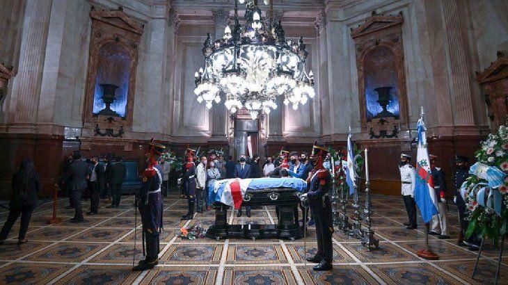 El ex presidente Carlos Saul Menem fue velado en el Congreso de la Nación.