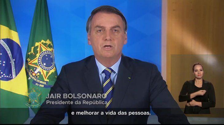 Bolsonaro suavizo su discurso negacionista sobre el coronavirus.