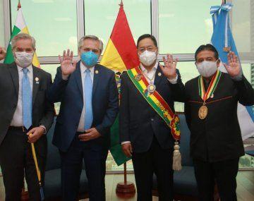 Felipe Solá fue parte de la delegación argentina que viajó a Bolivia para la asunción de Luis Arce.