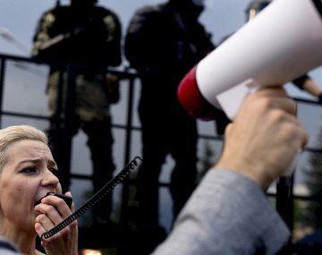 La líder opositora Maria Kolesnikova.