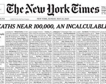 Coronavirus. Las mil personas que están aquí reflejan el 1% del total. Ninguno fue apenas un número, subrayó el periódico a través de las redes sociales.