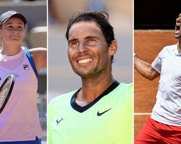 Los máximos favoritos al título en Roland Garros avanzan en París.