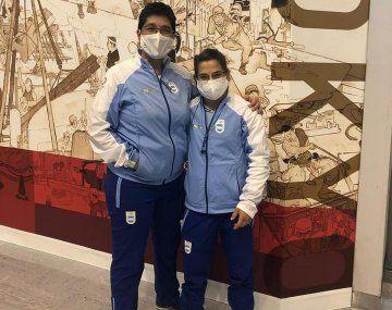 Martinel y Pareto ya está en Tokio para los Juegos Olímpicos.