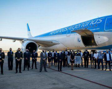 El Airbus 330-200 de Aerolíneas Argentinas regresará a Ezeiza el sábado 16 antes del mediodía.