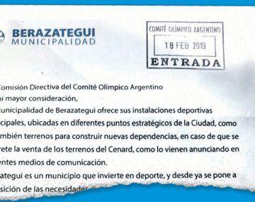 Cenard: Berazategui ofrece instalaciones  para deportistas