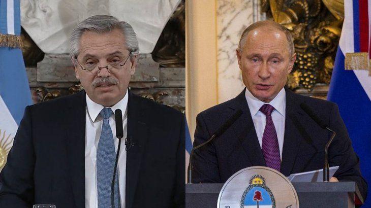 Alberto Fernández y Vladimir Putin anuncian la producción local de la vacuna Sputnik V