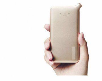 Portable. El dispositivo mide 13 x 7 x 1,4 cm y pesa 150 gramos.