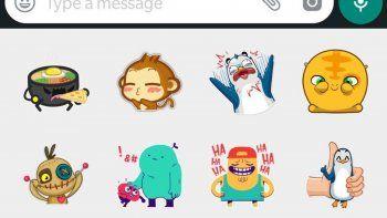 Los stickers ya son parte de los chats.