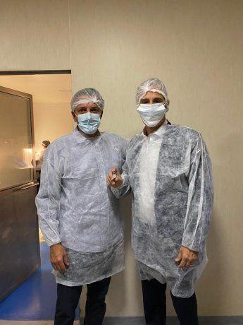 Vacuna. Massa visitó la semana pasada el laboratorio nacional.
