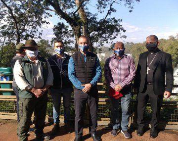 Las autoridades participaron de la reapertura del parque nacional Iguazú.
