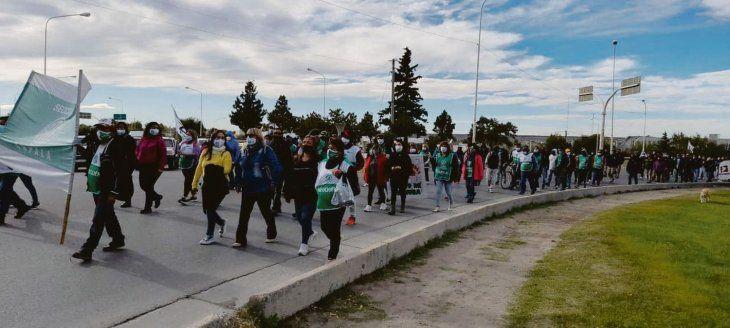 pulseada. El gremio ATE realizó ayer protestas por mejoras salariales al Gobierno