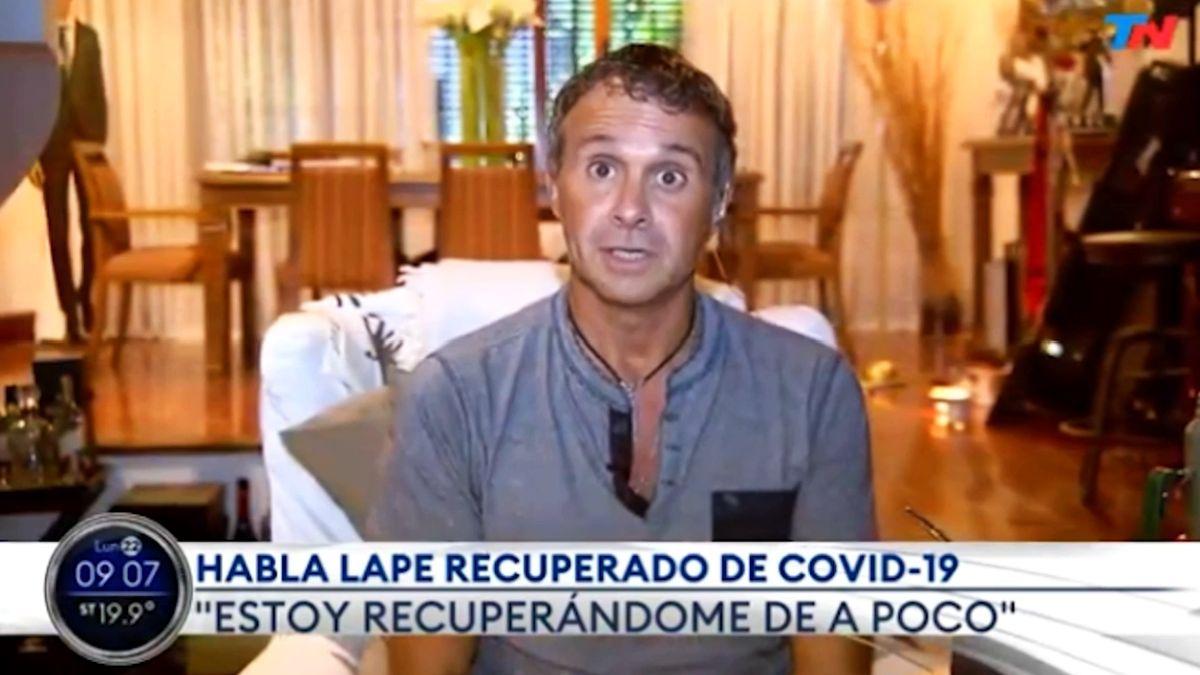 Sergio Lapegüe, tras recibir el alta médica: