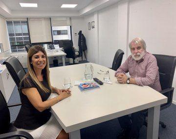 Lina Anllo y Félix Crous.