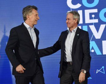 Mauricio Macri y el vicejefe de Gabinete, Andrés Ibarra.