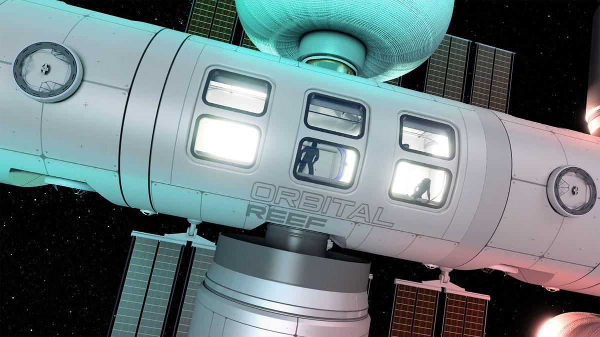 Orbital Reef, será un parque comercial de dimensiones semejantes a la estación espacial internacional.