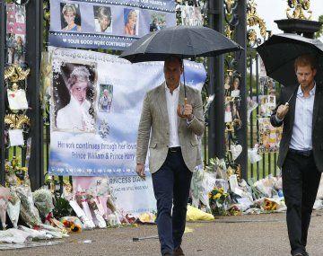 En medio de un clima tenso los príncipes Harry y William inauguran una estatua en honor a Lady Di