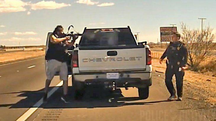 EEUU: revelan imágenes del asesinato a sangre fría de un agente de policía