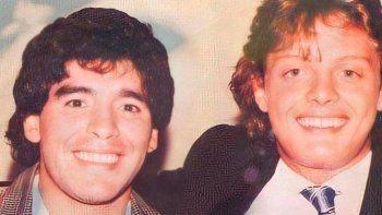 Maradona junto a Luis Miguel.