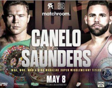 Canelo Álvarez y Saunders pelearán el sábado por el título supermediano CMB.