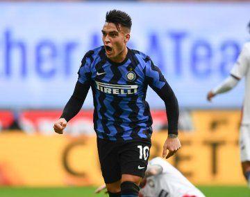 Lautaro Martínez, centrodelantero de Inter, es una de las figuras de la Liga de Italia.