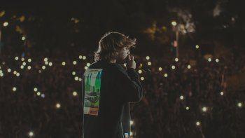 Paulo Londra en uno de sus conciertos.