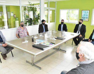 El intendente Alfredo Francolini y el titular del Parque Industrial Eduardo Cristina mantuvieron una reunión de trabajo con empresarios.