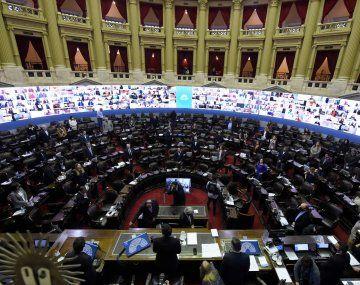Sesión virtual en la Cámara de Diputados.