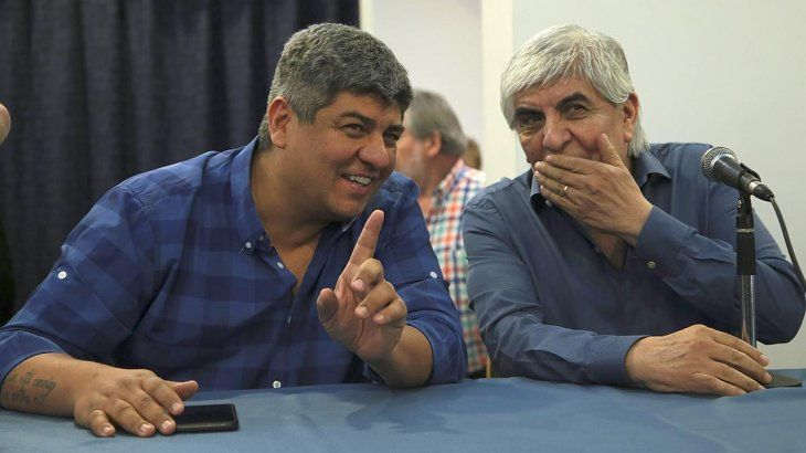 Pablo y Hugo Moyano, jefes del sindicato de choferes de camiones.