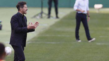 Simeone festejó otra vez. Atlético de Madrid sigue en lo más alto.