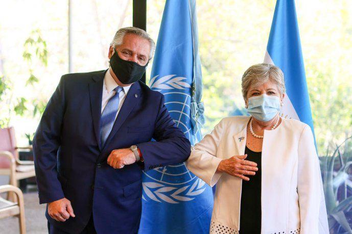 El Jefe del Estado argentino estuvo acompañado por Alicia Bárcena, titular del organismo dependiente de la ONU.