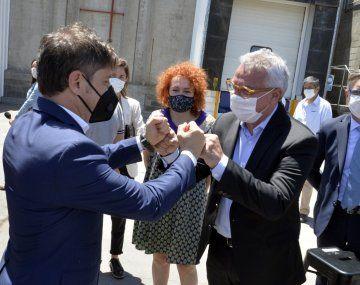 Julio Zamora acompañó a Axel Kicillof en el anuncio de un plan de inversión de la industria frigorífica por u$S 187 millones.