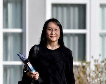 Meng Wanzhou, hija del fundador de Huawei.