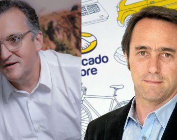 Martín Migoya, y Marcos Galperín, fundadores de los unicornios argentinos, Globant y Mercado Libre, respectivamente.