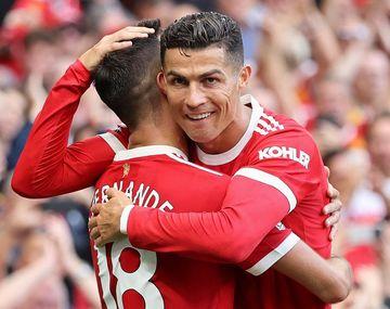 Cristiano Ronaldo volvió a Manchester United con dos goles.