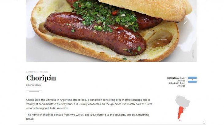 El choripán, entre los cinco mejores sándwiches del mundo