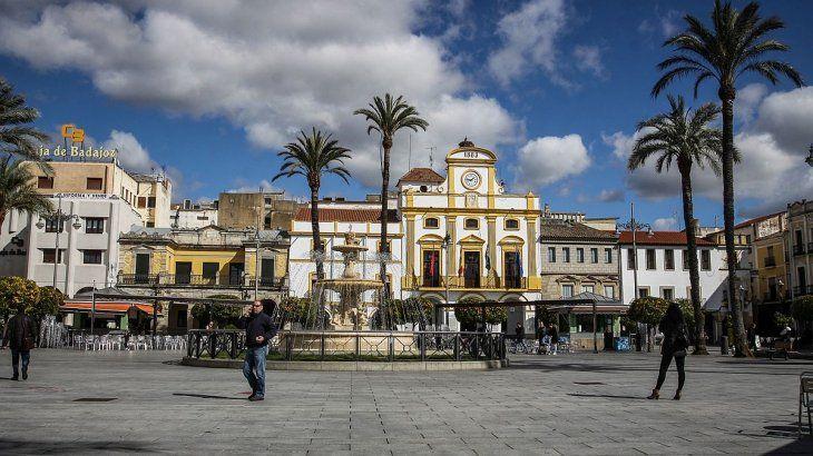 La plaza del casco histórico de Mérida.